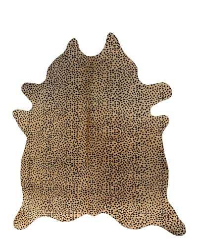 Natural Brand Togo Cowhide Rug, Cheetah, 6' x 7'