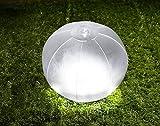GREENHOUSE ビーチボールのようにふくらませる防水LEDソーラーランタン ホワイト GH-LED10SLA-WH