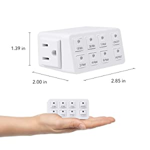 BN-LINK Smart Digital Countdown Timer with Repeat Function (Color: White, Tamaño: 1 Pack)
