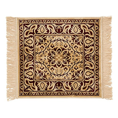 Darby Low-Profile Rug-2' Square - Beige