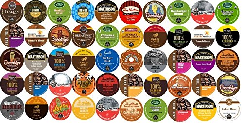 50-Count K-Cup For Keurig Brewers All Regular Coffee Variety Pack Featuring Tim Horton'S, Green Mountain, Coffee People, Broolyn Bean, Newman'S Organic, Donut House, Caza Trail, Emerils, Barnie'S Coffee Kitchen, Hurricane, Guy Fieri, Brown Gold, Martinson