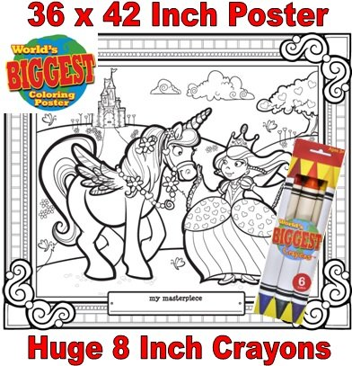 Just For Laughs World's Biggest Coloring Posters Combo- Princess - 1