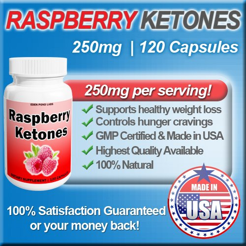 Raspberry Ketones, 250mg, Highest Quality, Natural Weight Loss and Appetite Suppression, 120 capsules, 250mg per pil