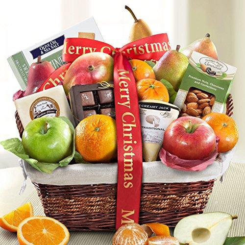 Golden State Fruit Deluxe Gift Basket, Merry