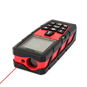 DMiotech Laser Distance Measure 131ft 40m Mini Handheld Digital Laser Distance Meter Rangefinder Measurer Tape Red with Tripod (Tamaño: 131ft Red with Tripod)