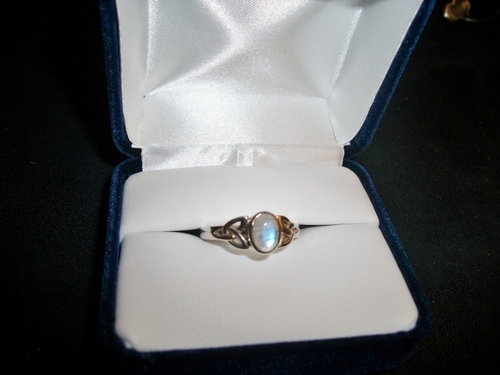 Celtic Knot Moonstone Ring | Moonstone Rings