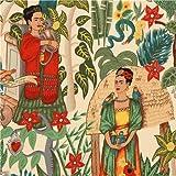 Tela Frida jard�n mexicano por Alexander Henry USA
