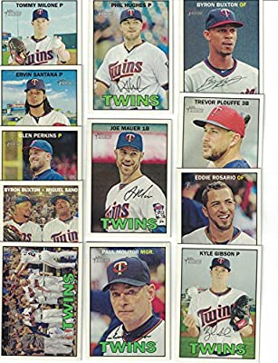 Minnesota Twins / 2016 Topps Heritage Baseball Team Set. FREE 2015 Topps Twins Team Set WITH PURCHASE!