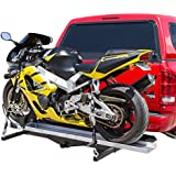 "Hitch Mounted Sport Bike & Motorcycle Carrier with a 600 lb. Capacity and 72"" Loading Ramp"