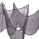 Benran Halloween Creepy Cloth Party Decor Drape Doorways Entryways Windows Cover Gauze 5 Yards X 30 (Gray)