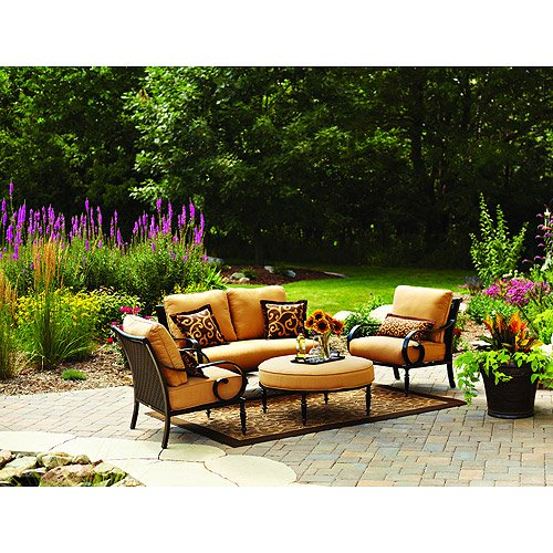 Better Homes And Gardens Englewood Heights 4 Piece Outdoor Conversation Set Lawn Patio