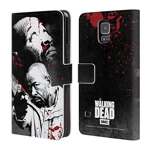 Ufficiale AMC The Walking Dead Morgan Sangue Cover a portafoglio in pelle per Samsung Galaxy S5 / S5 Neo