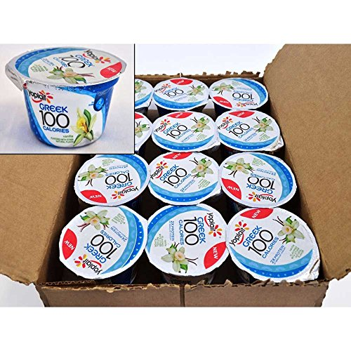 Yoplait 100 Calorie Vanilla Greek Yogurt, 5.3 Ounce -- 12 per case. (Greek Yogurt Vanilla compare prices)