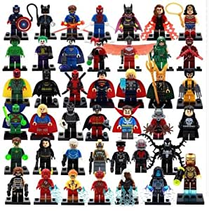 Amazon.com : Lot of 42 Sets Minifigures Super Heroes Marvel.dc Series