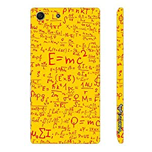 Sony Xperia M5 Einstein Energy Yellow designer mobile hard shell case by Enthopia