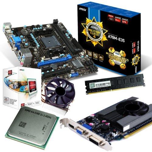 tronics24 PC Aufrüstkit | AMD A4-5300 2x 3.4GHz Dual-Core | Nvidia GeForce GT630 4GB