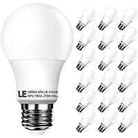 18-Pack LE A19 E26 LED Light Bulbs 60W Incandescent Equivalent (White)