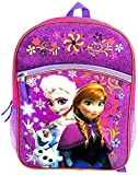 Disney Frozen Anna & Elsa W Olaf Backpack 16in