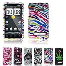 For Htc Evo 4g Cellularvilla (Tm) Rainbow Zebra Design Hard Phone Case Cover