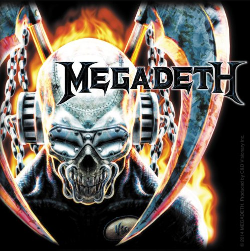 Licenses Products Megadeth Metal Skull Sticker