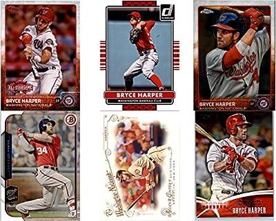 Bryce Harper Washington Nationals (6) Assorted MLB Major League Baseball Trading Cards