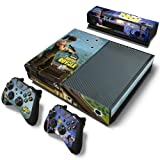Provone Fortnite Protective Vinyl Decal Skin Cover Sticker Xbox One Console Controllers Decal Cover + 2 Controller Skins( H01) (Color: H01)