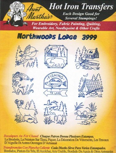 Northwoods Lodge Aunt Martha'S Hot Iron Embroidery Transfer front-87361