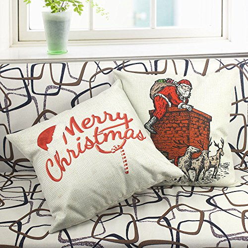 Homar Pillowcases - Santa Claus Carrying Gift Bag Print Pattern Christmas Decorative Throw ...