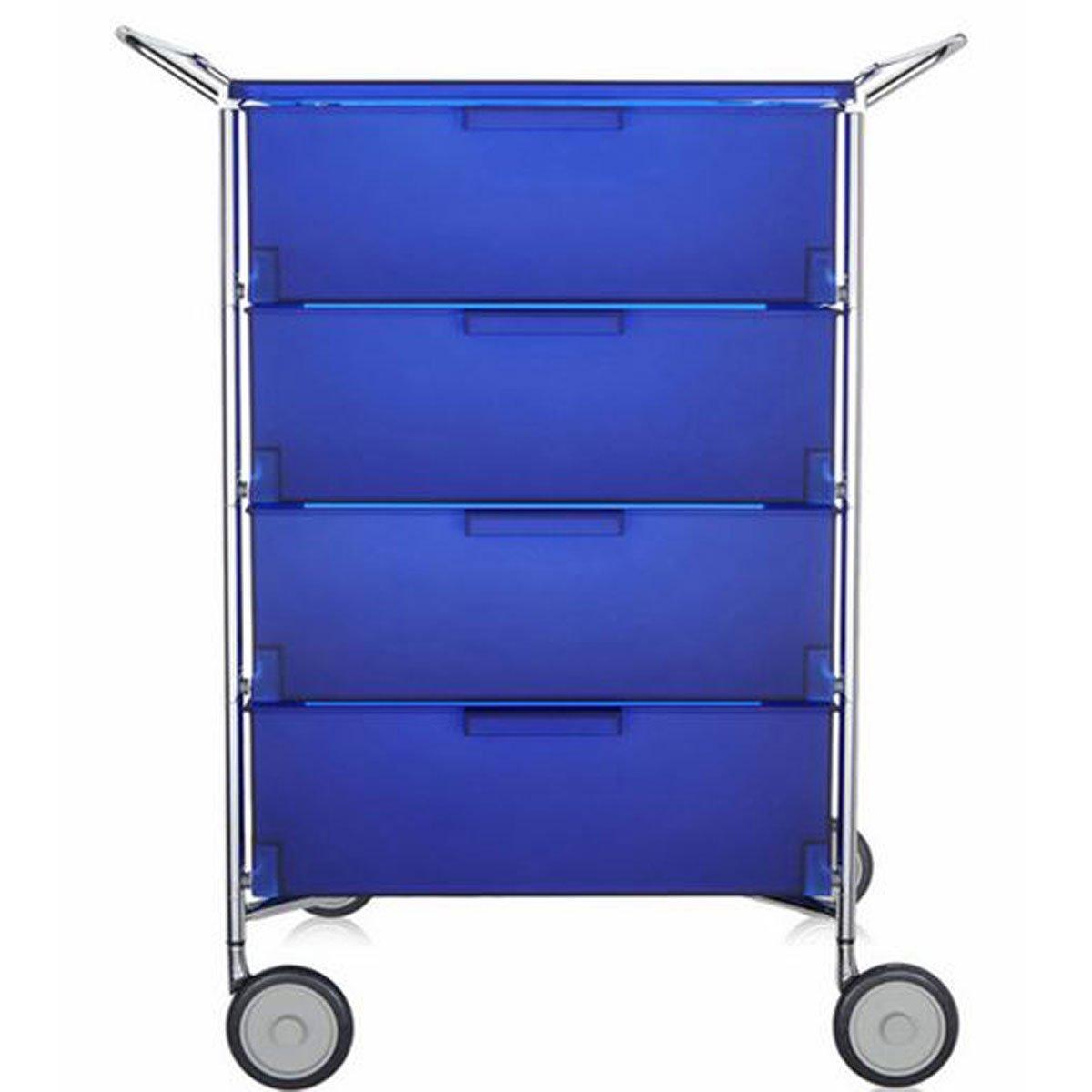Kartell 2335L2 Container Mobil, 4 Schubladen, kobaltblau