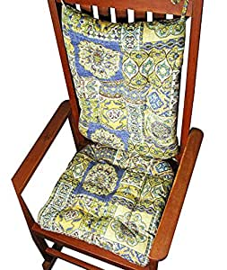 Porch Rocker Cushion Set Zerego Blue Extra Large Size Indoo