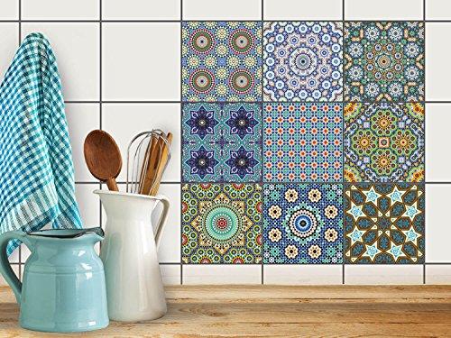 fliesenaufkleber mosaikfliesen dekorsticker folie sticker selbstklebend k che renovieren bad. Black Bedroom Furniture Sets. Home Design Ideas