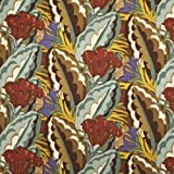 V&A Fabric - Deco Leaf (Tan)
