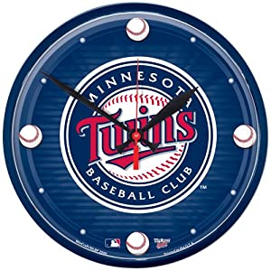 Minnesota Twins MLB Round Wall Clock - WIN-2903910 by WinCraft