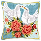 Vervaco White Doves Cross Stitch Cushion Multi Colour