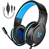 Bovon Gaming Headset for Xbox One, PS4, Lightweight Stereo Over Ear Headphones with Mic, Volume Control, Noise Isolation, Adjustable Headband, 3.5mm J