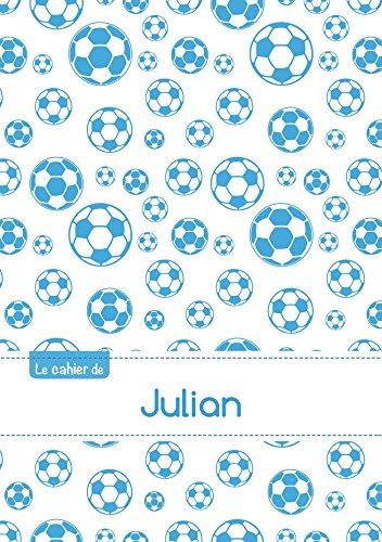 Le cahier de Julian - Petits carreaux, 96p, A5 - Football Marseille (Enfant)
