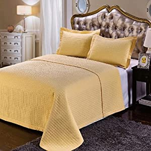 california king size gold coverlet 3pc set luxury