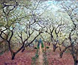 'Orchard In Bloom, 1879 By Claude Monet' Oil Painting, 20x24 Inch / 51x61 Cm ,printed On High Quality Polyster Canvas ,this High Quality Art Decorative Prints On Canvas Is Perfectly Suitalbe For Study Artwork And Home Artwork And Gifts