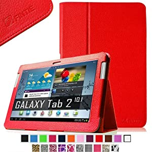 Fintie Slim Fit Folio Case Cover for Samsung Galaxy Tab 2 10.1 inch Tablet - Red at Electronic-Readers.com