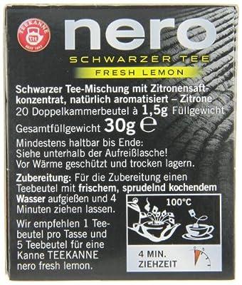Teekanne nero fresh lemon, 20 Beutel, 6er Pack (6 x 30 g) von Teekanne - Gewürze Shop