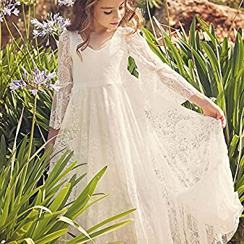 Fancy A-line Lace Flower Girl Dress 2-12 Year Old