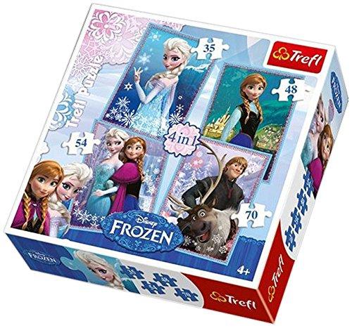 Trefl - Disney - La Reine des Neiges - 4 Puzzles - 35, 48, 54, 70 Pièces