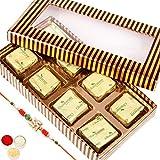 Rakhi Chocolates- Gold And Brown Roasted Almond Chocolate Box
