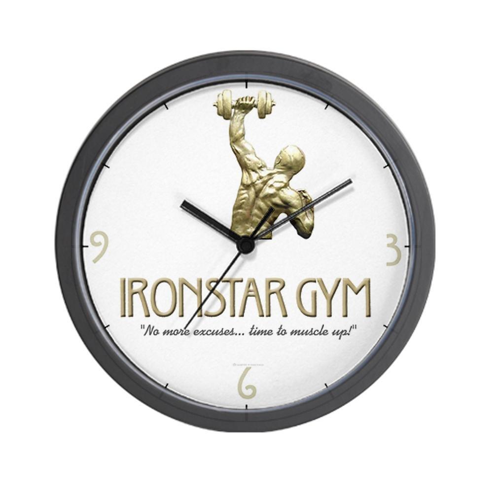The Ironstar Gym Wall Clock by CafePress