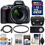 Nikon D5500 Wi-Fi Digital SLR Camera & 18-140mm VR DX AF-S Lens (Black) with 32GB Card + Case + Filter + Accessory Kit