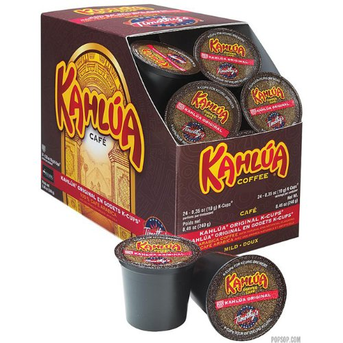 Timothy's World Coffee Kahlua Original 96 K-Cup for Keurig Brewers