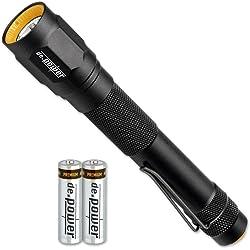 De.Power DP-014AA-C LED Alumimium 263 lm Flashlight - Black