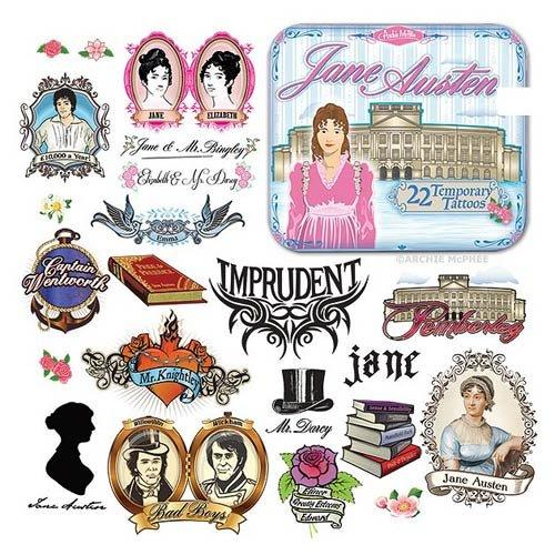 Accoutrements Jane Austen Tatouages