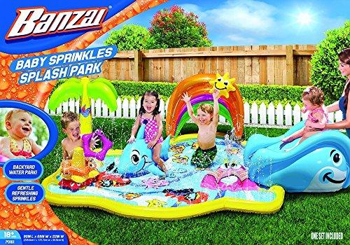 Banzai Baby Sprinkles Splish Splash Water Park Sprinkling Activity Center