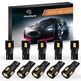 YITAMOTOR 10 x Latest 5630 T10 6-SMD Car Side Wedge Warm White LED Light bulbs W5W 2825 194 168 (Color: Warm)